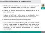 evaluaci n social del hospital de alta especialidad