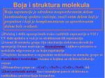 boja i struktura molekula