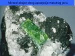 mineral obojen z bog apsorpcije metalnog jona
