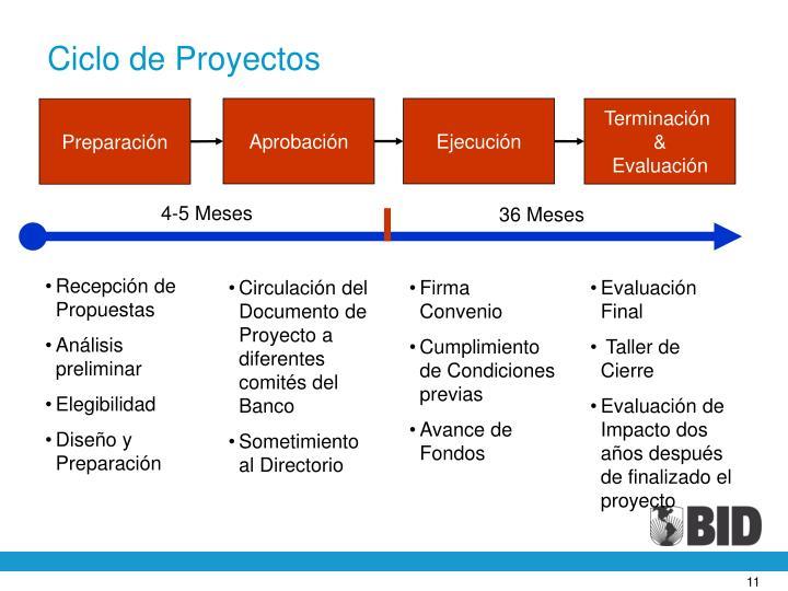 Ciclo de Proyectos