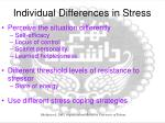 individual differences in stress