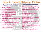 type a type b behavior pattern