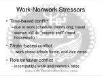 work nonwork stressors