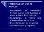 problemas con uso de archivos