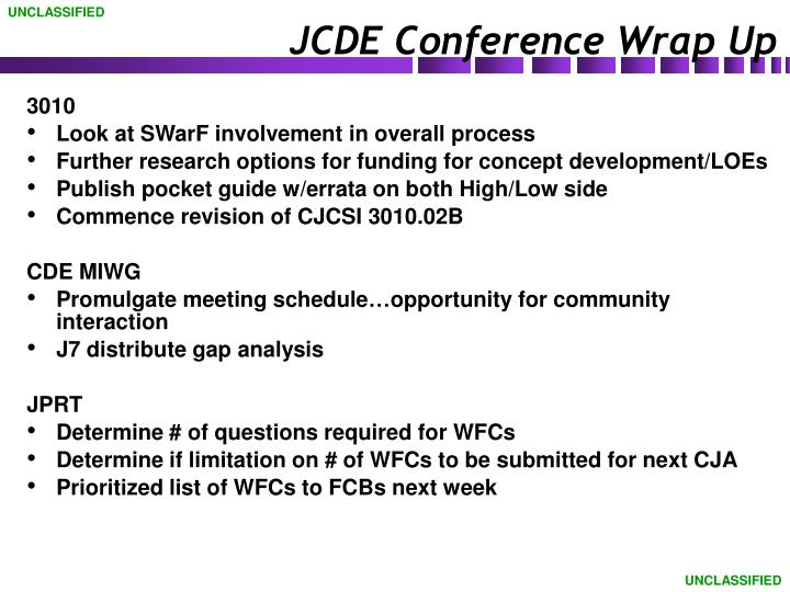 jcde conference wrap up n.