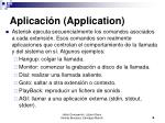 aplicaci n application