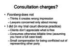 consultation charges