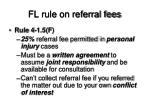 fl rule on referral fees