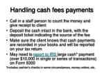 handling cash fees payments