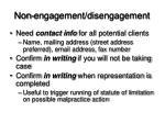 non engagement disengagement