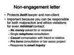 non engagement letter