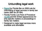 unbundling legal work
