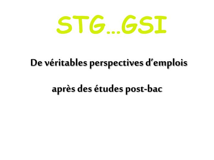 STG…GSI