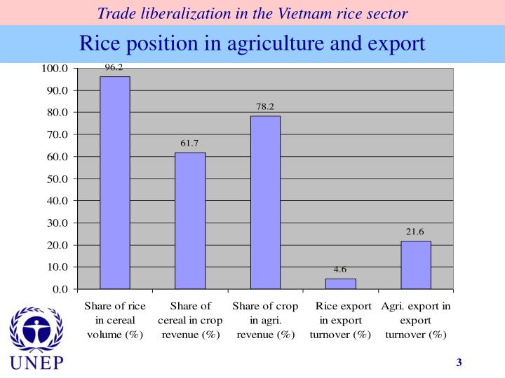 Rice position in agriculture and export