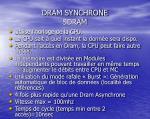 dram synchrone sdram