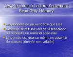 les m moires lecture seulement read only m mory