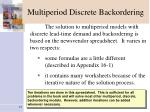multiperiod discrete backordering