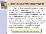 multiperiod discrete backordering1