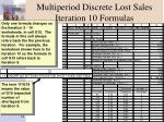 multiperiod discrete lost sales iteration 10 formulas