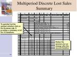 multiperiod discrete lost sales summary