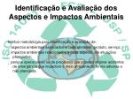 identifica o e avalia o dos aspectos e impactos ambientais