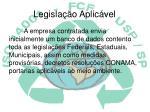 legisla o aplic vel