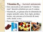 vitamina b 12 factorul antianemic