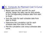compute as planned cost s curve