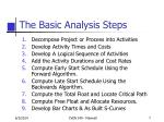 the basic analysis steps