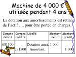 machine de 4 000 utilis e pendant 4 ans