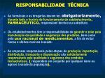 responsabilidade t cnica