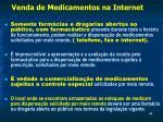 venda de medicamentos na internet