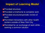impact of learning model