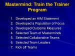 mastermind train the trainer program