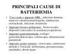principali cause di batteriemia