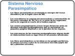 sistema nervioso parasimp tico
