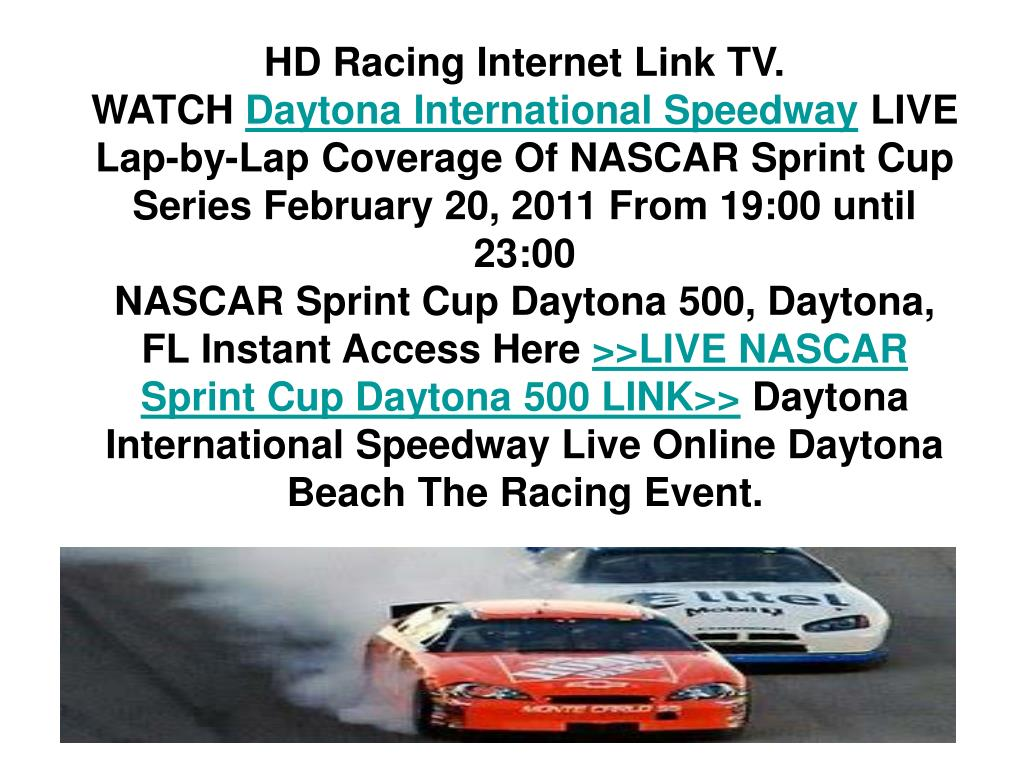 Nascar Sprint Cup Daytona 500 Point Ppt Presentation