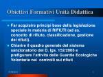 obiettivi formativi unit didattica