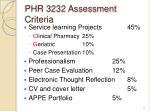 phr 3232 assessment criteria