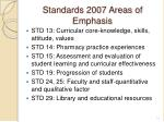 standards 2007 areas of emphasis
