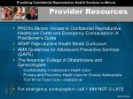 provider resources1