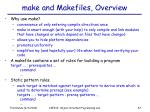 make and makefiles overview