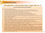 abrogazioni e decorrenze d m 9 luglio 2008 art 71