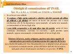 obblighi di comunicazione all inail art 39 c 8 d l n 112 2008 art 23 d p r n 11241965