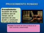 procedimiento romano