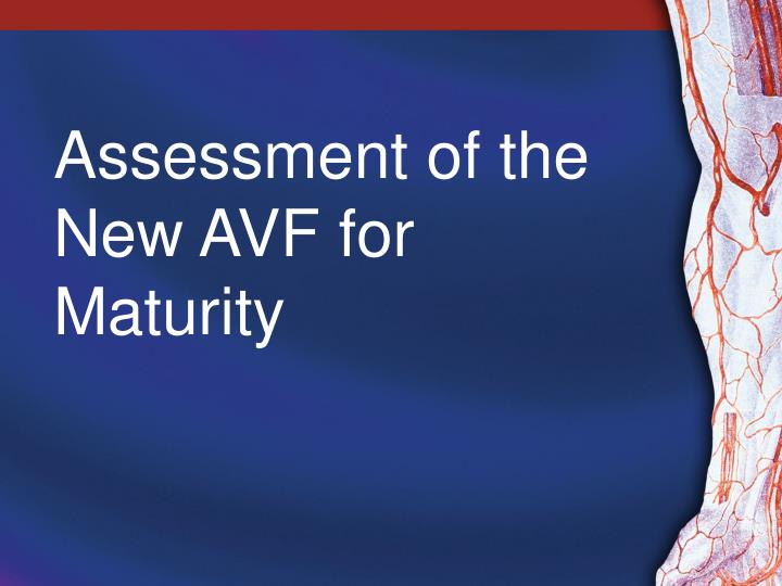 assessment of the new avf for maturity n.