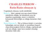 charles perrow rutin rutin olmayan i
