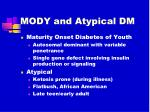 mody and atypical dm