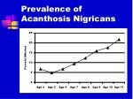 prevalence of acanthosis nigricans