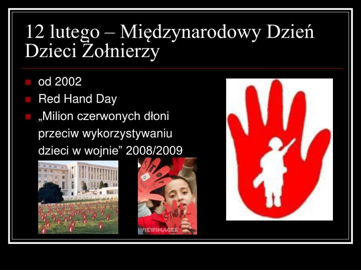 12 lutego – Międzynarodowy Dzień Dzieci Żołnierzy